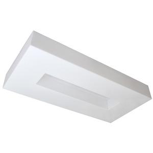 Plafon Tualux Retangular Metal e Plástico Branco Bivolt