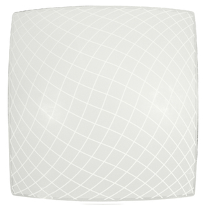 Plafon Inspire Riske Branco Quadrado Alumínio e Vidro Branco Bivolt