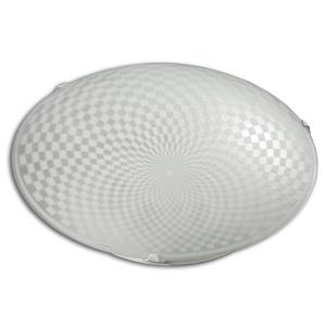 Plafon Safira 1 Lâmp. E27 Redondo Branco Luminari
