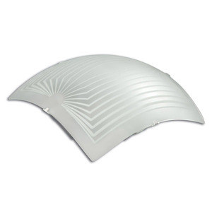Plafon Safira 1 Lâmp. E27 Quadrado 25x25cm Branco Luminari