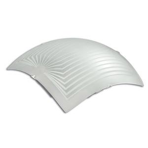 Plafon Safira 2 Lâmp. E27 Quadrado 28x28cm Branco Luminari
