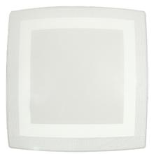 Plafon Inspire Tella Quadrado Alumínio e Vidro Branco Bivolt