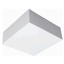 Plafon Tualux Valência Quadrado E27 26x26cm Plástico Branco