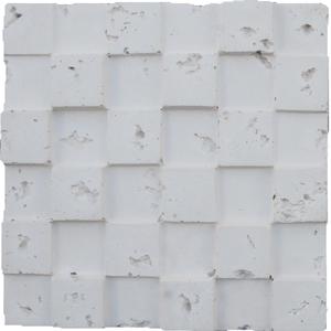 Plaqueta Cubos Branco Rustico 30x30cm Arthemis