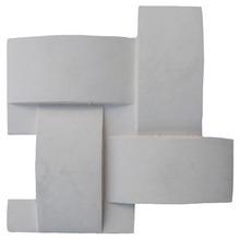 Plaqueta Trama Branca 24,5X24,5 cm Arthemis