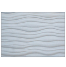 Plaqueta Wave Branco 50x75cm Arthemis