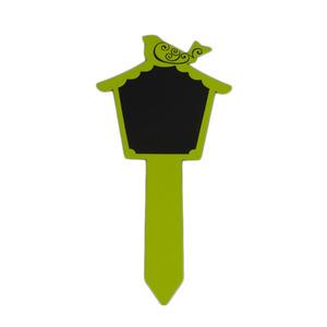 Plaquinha Identificação Aço Pássaro Verde
