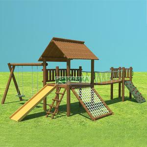 Playground Casa do Tarzan Completa Madeira