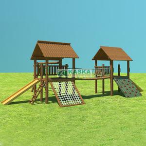 Playground Casa do Tarzan Dupla Madeira