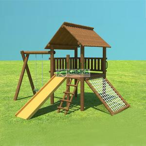 Playground Casa do Tarzan Simples Madeira