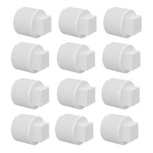 """Plug Branco PVC Roscável 20mm ou 1/2"""" 12 peças Equation"""