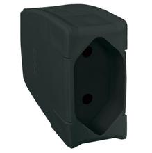 Plugue fêmea 20A 2P preto plástico anti-chama liga de cobre Pial Legrand