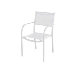 Poltrona Aço/Textilene Branco 83,50x57,50cm Importado