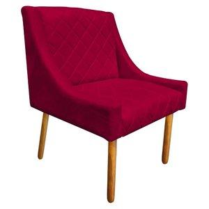 1c0f1a4c9241cc Poltrona Decorativa Paris Suede Vermelho - D'Rossi