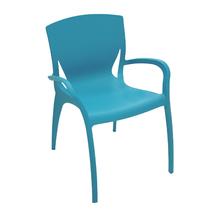 Poltrona Plástico Clarice Azul 80x59cm Tramontina