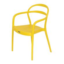 Poltrona Plástico Sissi Amarela 80x57cm