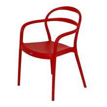 Poltrona Plástico Sissi Vermelha 80x57cm