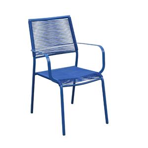 Poltrona Plástico Style Azul 86x62cm Importado