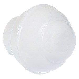 Ponteira Bola Alumínio Branca 28mm DeVictor