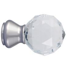 Ponteira Galax Cristal Aço Prata 28mm Vettra