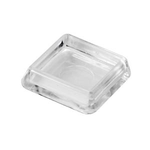 Ponteira para Móveis Quadrado Plástico 30x30mm Transparente Hettich