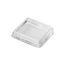 Ponteira para Móveis Quadrado Plástico 40x40mm Transparente Hettich