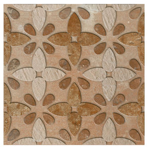 Porcelanato Acetinado Borda Arredondada Barroco Decor 252513H02 25x25cm Villagres