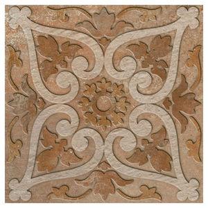 Porcelanato Acetinado Borda Arredondada Barroco Decor 252513H09 25x25cm Villagres