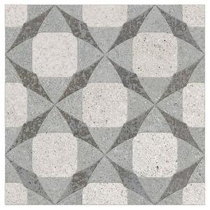Porcelanato Acetinado Borda Arredondada Piasentina Decor 252510H03  25x25cm Villagres
