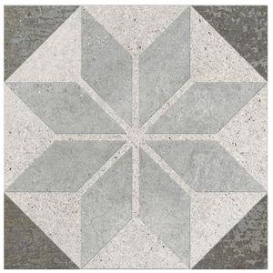 Porcelanato Acetinado Borda Arredondada Piasentina Decor 252510H07 25x25cm Villagres