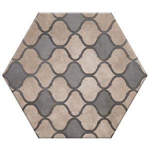 Porcelanato Acetinado Borda Arredondada Hexa 04 20x17cm Lumavix