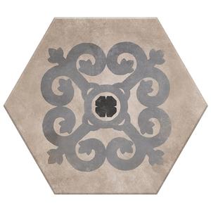 Porcelanato Acetinado Borda Arredondada Hexa 05 20x17cm Lumavix
