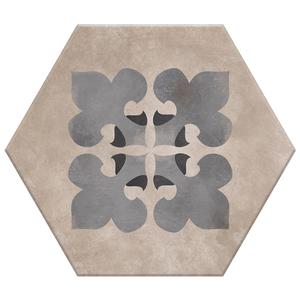 Porcelanato Acetinado Borda Arredondada Hexa 06 20x17cm Lumavix
