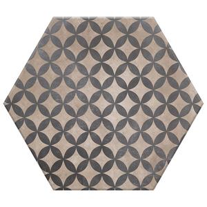 Porcelanato Acetinado Borda Arredondada Hexa 08 20x17cm Lumavix