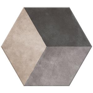 Porcelanato Acetinado Borda Arredondada Hexa 09 20x17cm Lumavix