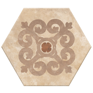 Porcelanato Acetinado Borda Arredondada Hexa 19 20x17cm Lumavix