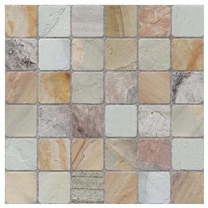 Porcelanato Acetinado Borda Arredondada Mosaico Goias 60x60cm Buschinelli