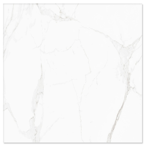 Porcelanato Acetinado Borda Arredondada Statuário 60x60cm Buschinelli