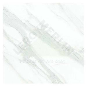 Porcelanato Brilhante Retificado Calacata Branco 54x54cm Via Rosa
