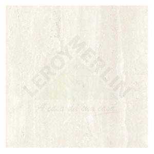 Porcelanato Brilhante Retificado Travertino Branco 54x54cm Via Rosa