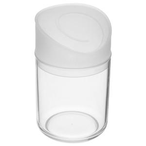 Porta Algodão Acrílico e Plástico Redondo com Tampa Espiral Transparente