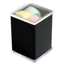 Porta algodão com Tampa Cristal Linha Clássica Formacril