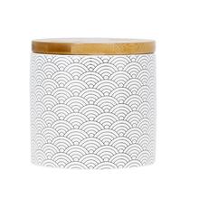 Porta Algodão Marrom em Cerâmica Okino Sensea