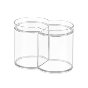 Porta Algodão Plástico Clarity Interdesign