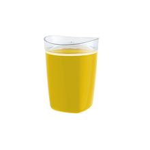 Porta Algodão Plástico Redondo Tule Amarelo OU
