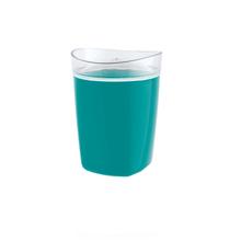 Porta Algodão Plástico Redondo Tule Azul OU