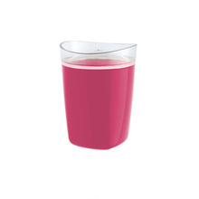 Porta Algodão Plástico Redondo Tule Rosa OU