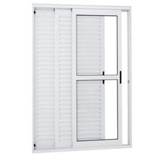 Porta Balcão de Alumínio Branco 216x120x14cm  Sasazaki