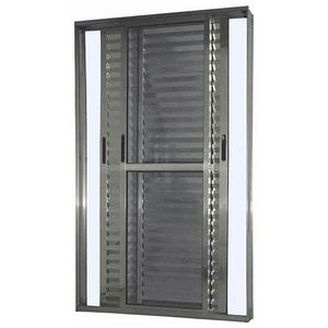 Porta Balcão de Alumínio Brilhante 210x140x7cm  Atlântica