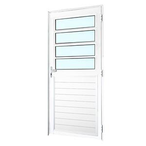 Porta Basculante Linha Magnun Branca Esquerda 210x0,90cm